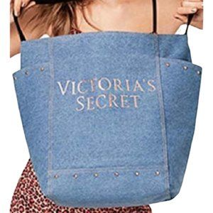 2/$40 Victoria's Secret large denim tote bag